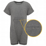 KayCey Super Soft Body Suit - Short Sleeve with Tube Access - GREY from